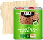 Cetabever Tuin Vlonder & Terras Bankirai Olie - Transparant-  Blank - 2,5 liter