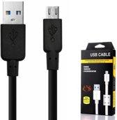 Olesit K107 Micro USB Kabel 1.5 Meter Fast Charge Lader 2.1A High Speed Laadsnoer Oplaadkabel - Zware Kwaliteit Kabel - Snellader - Data Sync & Transfer- geschikt voor de Samsung Modellen - Zwart