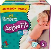 Pampers Active Fit - Luiers Maat 5 - Jumbo Pack plus 70st