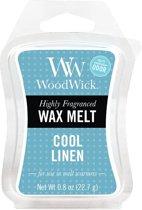 Cool Linen Mini Wax Melt WoodWick® per 3 stuks