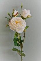 Pure - Rozentak - Zijdebloem - Kunstbloem - Wit - Topkwaliteit - 3 stuks