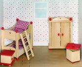Goki Houten poppenhuis kinderkamer 5-delig