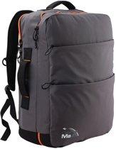CabinMax Handbagage - Rugzak 40l– Schooltas Reistas - 55x40x20cm – Lichtgewicht – Grijs (Edinburgh)