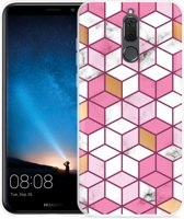 Huawei Mate 10 Lite Hoesje Pink-gold-white Marble