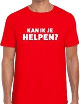 Can i help you beurs/evenementen t-shirt rood heren - verkoop/horeca L