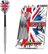 Harrows Torpedo 80% Tungsten Steeltip 21 Gk - Dartpijlen