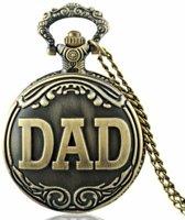Zakhorloge - DAD - brons met ketting #1