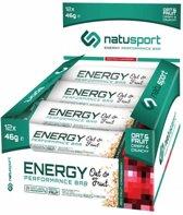 NatuSport Energy Performance Bar Oat&Fruit - Red Fruit Cranberry (12 x 46 gram)