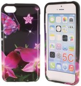 iPhone 5C Special Silicon Case Hoesje - Magical Butterfly