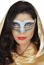 Regenboog oogmasker voor vrouwen - Verkleedmasker
