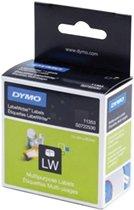 4x Dymo etiketten LabelWriter 13x25mm, verwijderbaar, wit, 1000 etiketten
