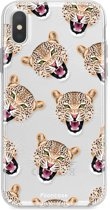 Iphone X - TPU Soft Case - Back Cover telefoonhoesje - Luipaard / Leopard print