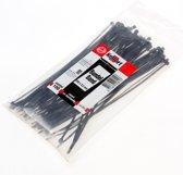 Bundelbandje zwart 200 x 2.5mm