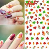 Nail art stickers blad blaadjes +-70 pcs