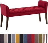 Clp Cleopatra - Chaise longue - Stof - rood antiek donker