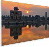 Zonsondergang boven Lahore Plexiglas 90x60 cm - Foto print op Glas (Plexiglas wanddecoratie)