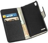 HC Bookcase Flip Wallet Telefoonhoesje - Huawei Ascend P6 Zwart
