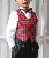 jongens Kledingset Jongenskostuum Michael (zonder jasje), zwart/rood, maat 2 (85) 7433637492437