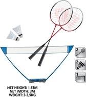 Donnay Badmintonset  - 1 net - 2 rackets - 2 shuttles - opbergkoffer