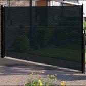 Windscherm - 180x300 - Zwart/Zwart - Doorzichtig - Oprolbaar - Aluminium - Privacy
