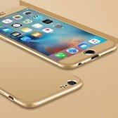 Let op type!! GKK voor iPhone 6 Plus & 6s Plus PC drie fase Splicing 360 graden volledige beschermende geval back cover(Gold)