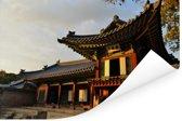 Prachtige gebouwen bij Changdeokgung Poster 180x120 cm - Foto print op Poster (wanddecoratie woonkamer / slaapkamer) XXL / Groot formaat!