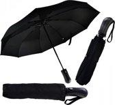 Luxe stormparaplu – opvouwbaar & windproof - zwart