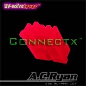 AC Ryan Connectx™ Floppy Power 4pin Female - UVRed 100x Rood