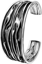 The Jewelry Collection Armband Oxi 25,5 X 60 mm - Zilver Geoxideerd