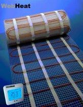 Elektrische Vloerverwarming set WebHeat Floor Mat 1.0 m2 (inclusief klokthermostaat)