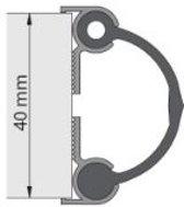 Alprokon deurnaaldprofiel - aluminium 2 x 2500mm - 4030