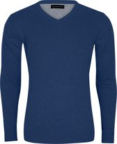 Michaelis Heren Trui Navy Blauw V-Hals Slim Fit - S