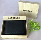 Lundholm Luxe heren portemonnee heren leer - cadeau voor man - cadeau set - kerstcadeau voor mannen