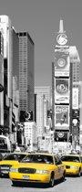 Fotobehang - NYC Times four-sided - Deurposter - 200 x 86 cm - Multi