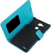 Cyclone cover wallet hoesje Huawei G8 blauw