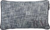 Rivièra Maison Regent Park - sierkussen - 30x50 cm - Antraciet