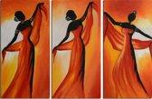 Schilderij 3 luik dansen 90x60 Artello - Handgeschilderd - Woonkamer schilderij - Slaapkamer schilderij - Canvas - Modern