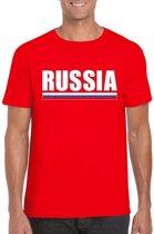 Rood Rusland supporter t-shirt voor heren - Russische vlag shirts 2XL