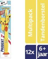 Prodent Pokémon Junior Tandenborstel 6-12jr - 12 Stuks - Voordeelverpakking