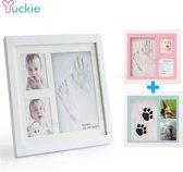 Baby Handafdruk - Voetafdruk - Met Fotolijstje - Gipsafdruk - Pootafdruk - Babycadeau -Babykamer - Babyshower - Kraamcadeau
