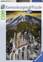 Ravensburger puzzel Winterse bergkloof - legpuzzel - 1500 stukjes