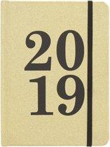 Jaaragenda 2019 | Agenda goud met glitter | Elastiek & Leeslint