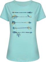 Dare 2b-Aim Higher Tee-Outdoorshirt-Vrouwen-MAAT XL-Blauw