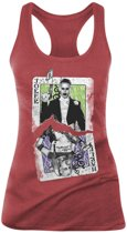 Suicide Squad - Cards Girls Vrouwen Tanktop - Rood - XL