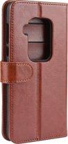 Mobigear Leather Wallet Hoesje Bruin Motorola One Zoom