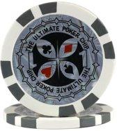 Pokerchip Ultimate 11,5 Gram Grijs 1