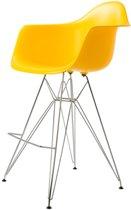 Design kruk DD DAR barkruk PP geel kuipstoel