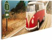 Reinders Schilderij VW Californian Camper - route one - Deco Panel - 90 x 30 cm - no. 21665