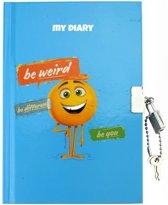 Emoji Dagboek Blauw 18 Cm