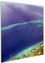 Rainbow Reef Oceanie Glas 120x80 cm - Foto print op Glas (Plexiglas wanddecoratie)